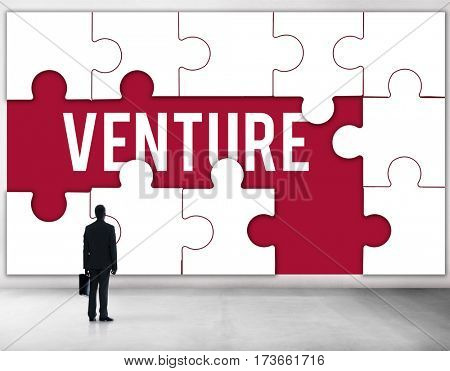 New Startup Business Venture puzzle graphic