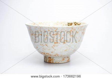 japan bowl empty ceramic asia plate on white
