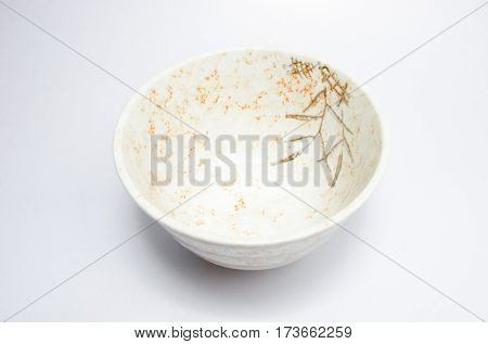 japan bowl empty ceramic asia plate on white