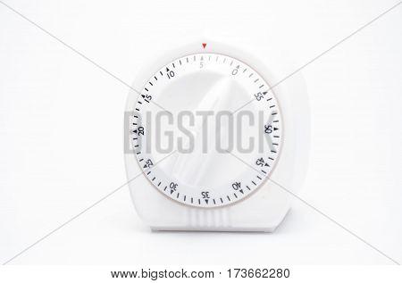 cooking timer kitchen clock alarm on white