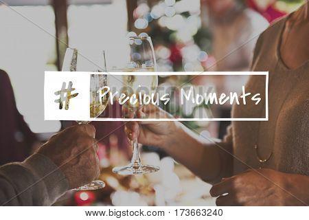 Celebrate Cheers Merrirent Toast Happy Life