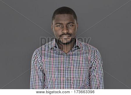 African descent man in a studio shoot
