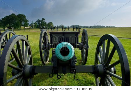 Frontal View Of A Cannon