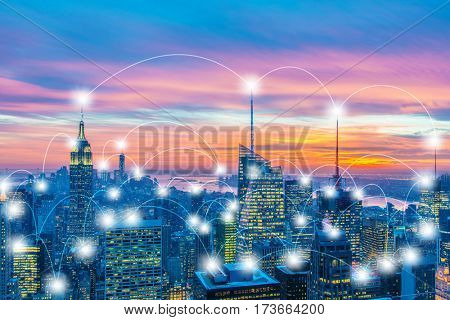 Internet of things concept in the city