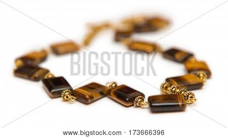 Elegant jewellery isolated on the white background