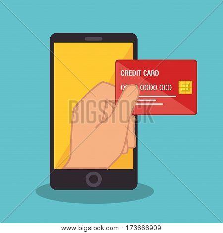 smartphone device electronic commerce vector illustration design