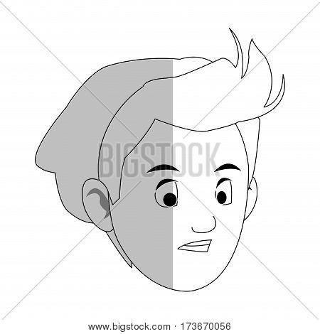 face of handsome young man with beanie  icon image vector illustration design