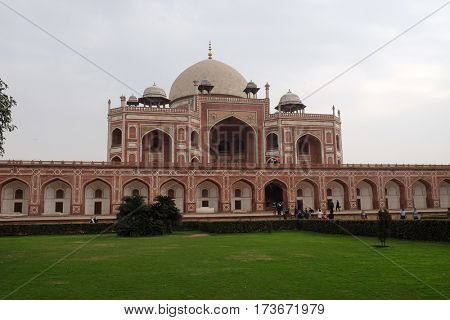 DELHI, INDIA - FEBRUARY 13 : Humayun's Tomb, built by Hamida Banu Begun in 1565-72, Delhi, India on February, 13, 2016