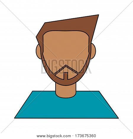 abstract faceless bearded man icon image vector illustration design