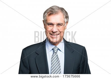 Smiling mature businessman portrait