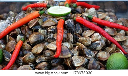 Fresh Clams With Chilies And Limes