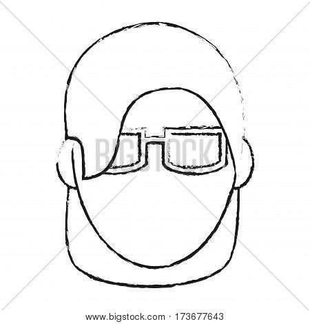 abstract faceless woman with glasses icon image vector illustration design
