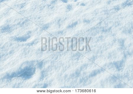 Snow as background