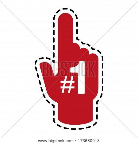 fan foam finger icon image vector illustration design