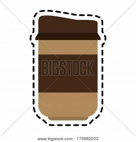 coffee in disposable cup  icon image vector illustration design