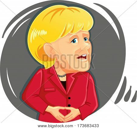 February 19, 2017 Caricature  of Angela Merkel