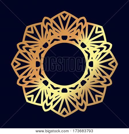 Gold mandalas. Indian wedding meditation. Buddhist medallion. It can be used for tattoo prints on t-shirts, design and ad restaurants. For postcards design wedding invitations, photo overlays.