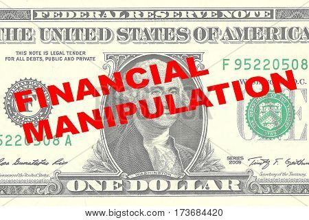 Financial Manipulation - Financial Concept