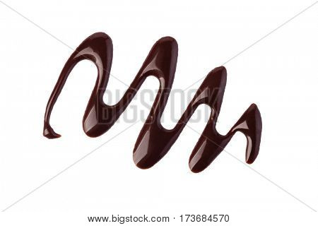 chocolate sauce isolated on a white background