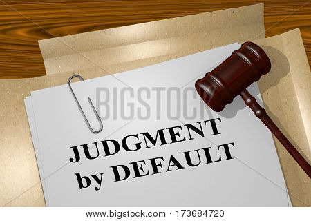 Judgment By Default Concept