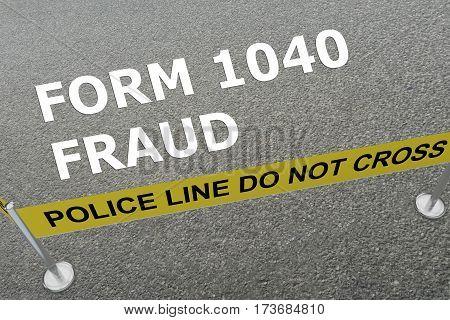 Form 1040 Fraud Concept