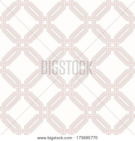 Geometric abstract vector pink octagonal background. Geometric abstract ornament. Seamless modern pattern
