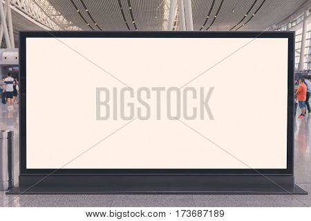 Billboard Or Advertising Poster In The Airport For Advertisement Concept Background