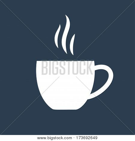 white tea cup vector icon. Stock vector illustration