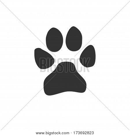 dog paw print. Design vector icon illustration.