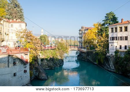 Ivrea Piedmont Italy scenic view at sunset