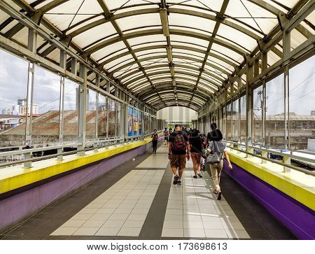 People Walking At Subway Station