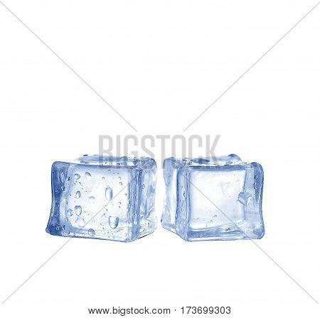 the ice cubes isolated  on white background