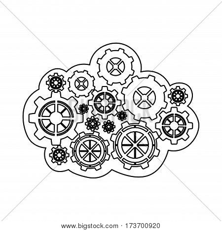 figure gears icon image, vector illustration design stock