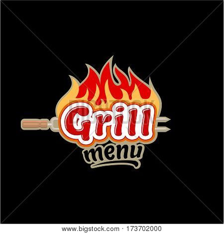 logo icon badge emblem grill menu vector