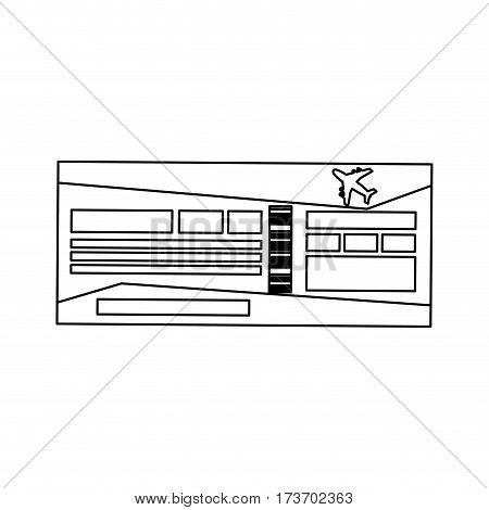 airplane boarding pass icon over white background. vector illustration