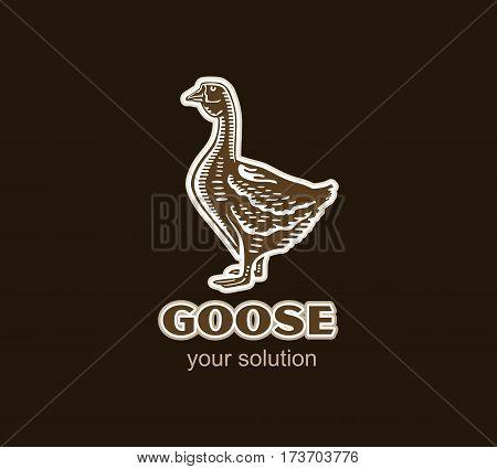 Goose Logo Silhouette