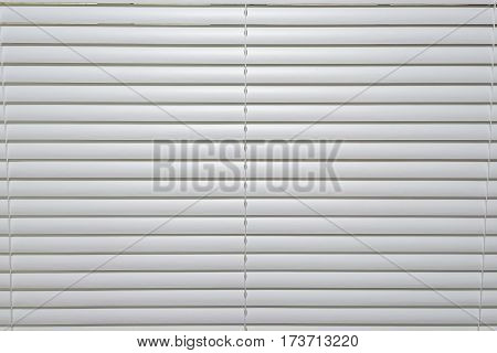 Cloe-up of closed blinds window background /texture