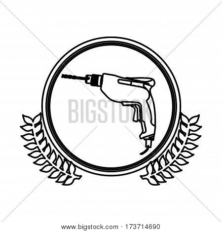 figure symbol drill icon image, vector illustration design stock