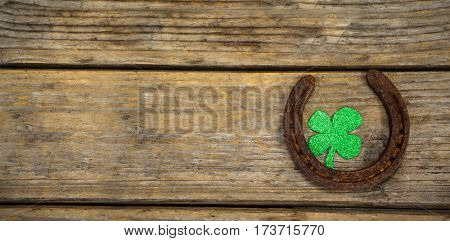 horse shoe and shamrock patrick day
