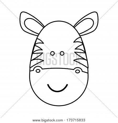 figure face zebra icon, vector illustration design image