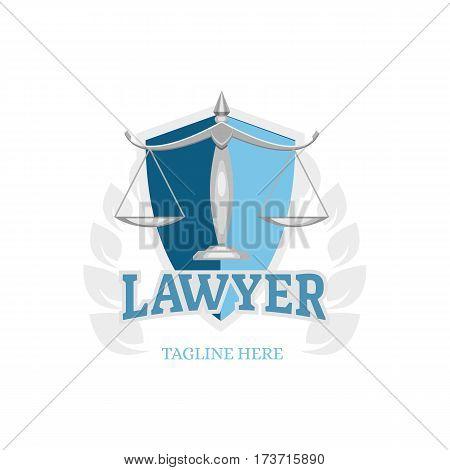 Blue lawyer logo icon badge emblem vector