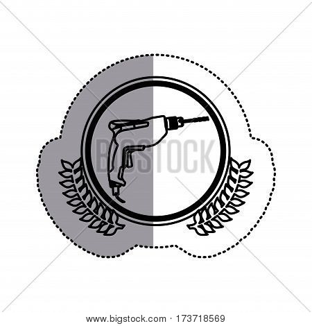 contour symbol drill icon image, vector illustration design stock