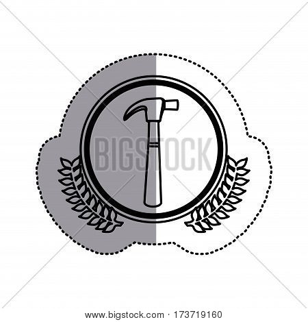 contour symbol hammer icon stock, vector illustration design