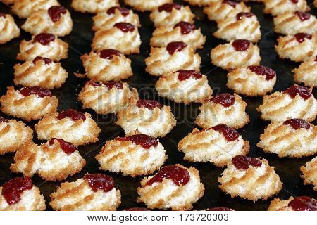 petit fours coconut guava sweet sugar snack