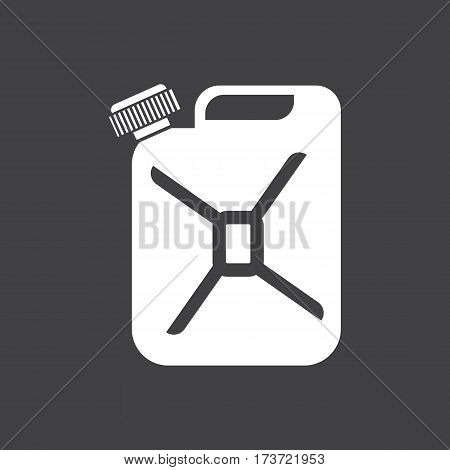 Canister of gasoline icon. Car dashboard icon. Vector illustration