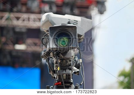 High definition cinema camera on a movie set