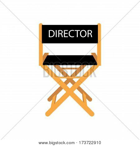 Movie director chair on the white background. Vector illustration