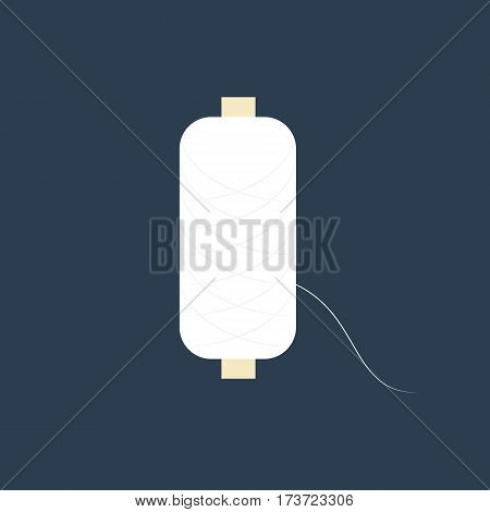 Spool of thread on the blue background. Vector illustration