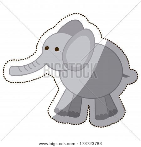 color elephant icon stock, vector illustration design image