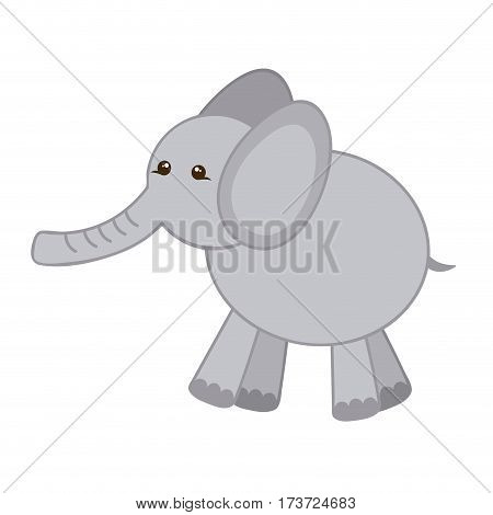 gray elephant icon stock, vector illustration design image